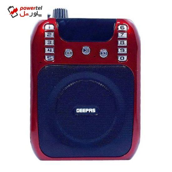 اسپیکر بلوتوثی قابل حمل جی پاس مدل GMP15013