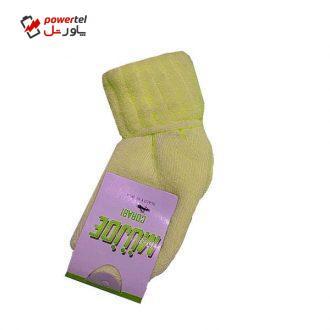 جوراب نوزادی کد 2 رنگ زرد