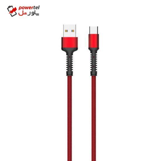 کابل تبدیل USB به microUSB الدینیو مدل LS64 طول 2 متر