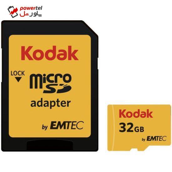 کارت حافظه microSDHC امتک کداک کلاس 10 استاندارد UHS-I U3 سرعت 95MBps 650X به همراه آداپتور SD ظرفیت 32 گیگابایت