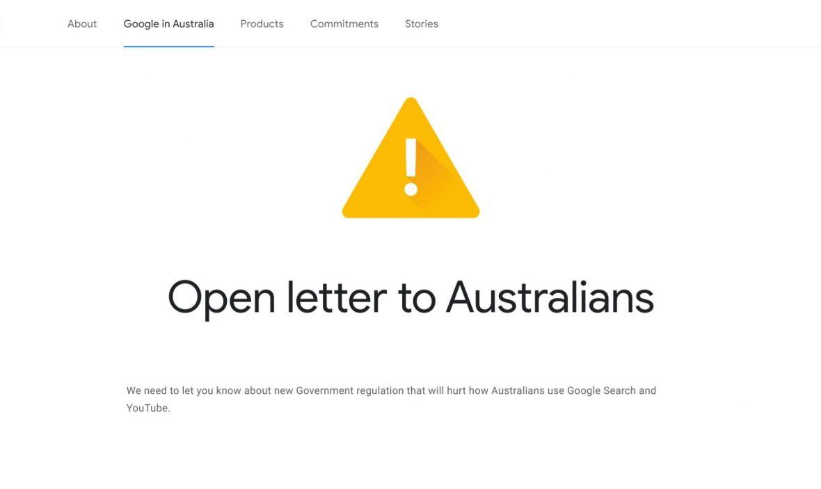 آیا استرالیا مورد غضب گوگل واقع میشود؟
