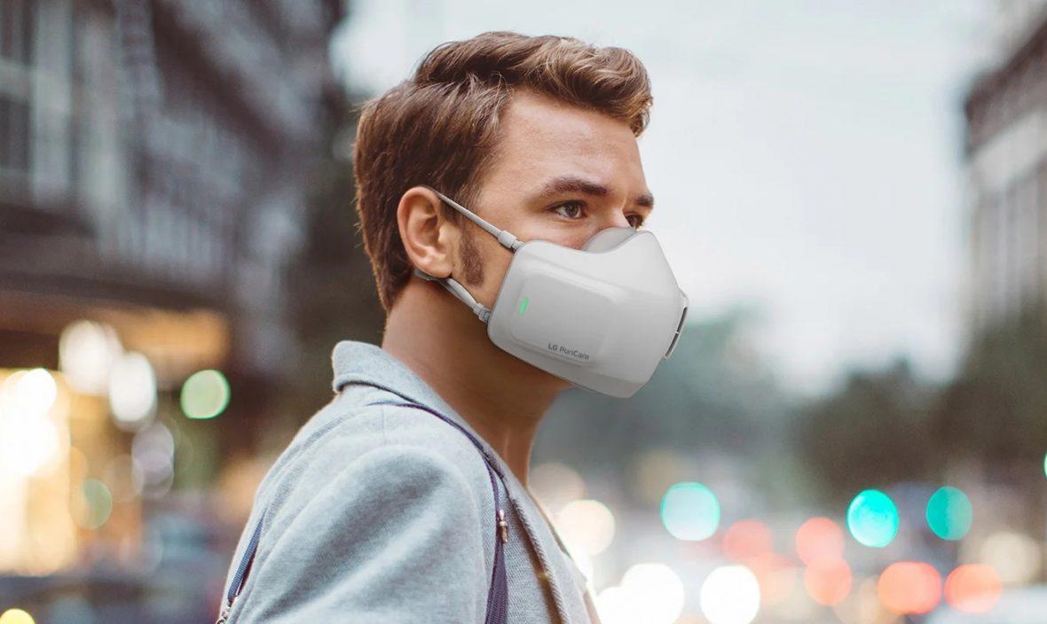 تولید ماسک باتری خور با قابلیت تصفیه هوا توسط الجی