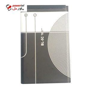 باتری موبایل مدل BL-5C با ظرفیت 500 میلی آمپر ساعت مناسب برای گوشی موبایل نوکیاN72