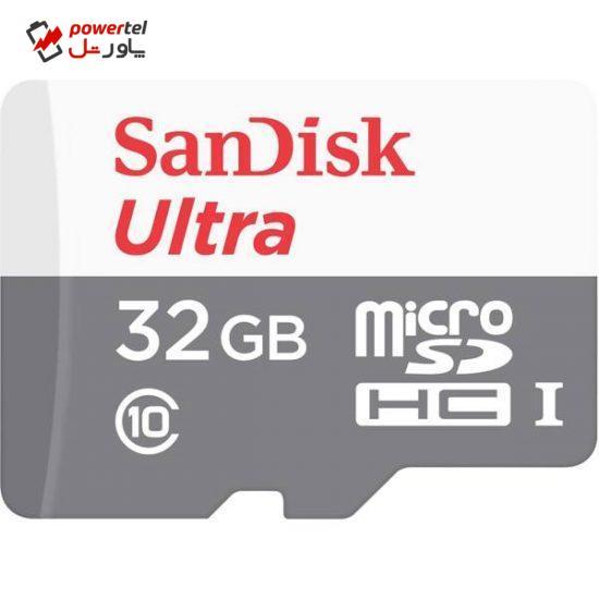 کارت حافظه microSDHC سن دیسک مدل Ultra کلاس 10 استاندارد UHS-I U1 سرعت 80MBps 533X ظرفیت 32 گیگابایت