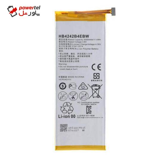 باتری موبایل مدل HB4242B4EBW95ظرفیت 3000 میلی آمپر ساعت مناسب برای گوشی موبایل آنر  4X
