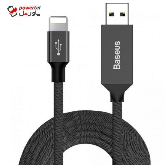 کابل تبدیل USB به لایتنینگ باسئوس مدل CATLYW-M01 طول 5 متر