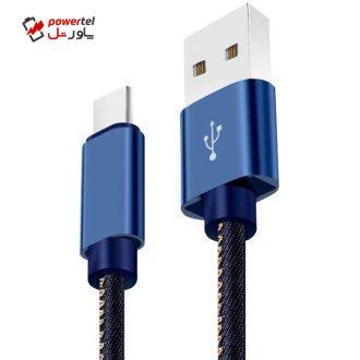 کابل تبدیل USB به USB-C مدل TEK302 طول 0.18 متر