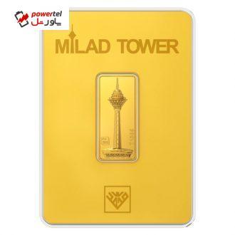 شمش طلا 24 عیار طلای محمد مدل برج میلاد G