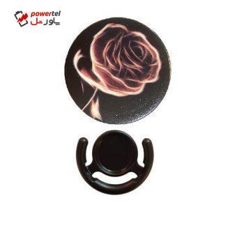 پایه نگهدارنده گوشی موبایل پاپ سوکت مدل  Black Roz