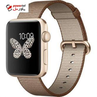 ساعت هوشمند اپل واچ 2 مدل 42mm Gold Aluminum Case with Coffe Caramel Band