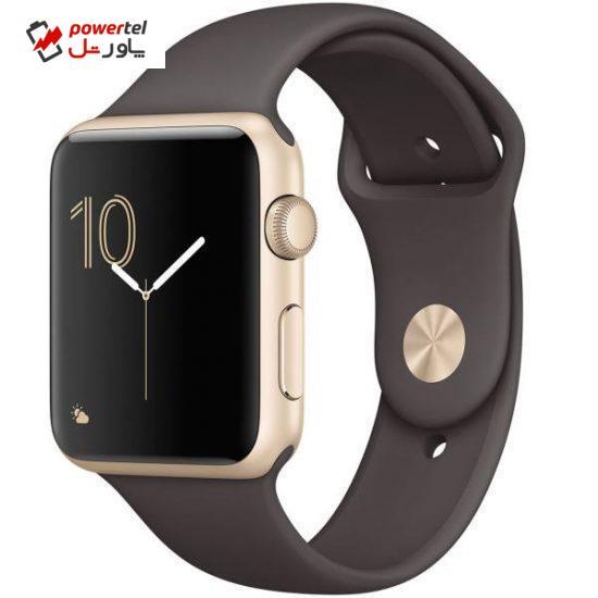 ساعت هوشمند اپل واچ سری 1 مدل 42mm Gold Aluminum Case with Cocoa Band