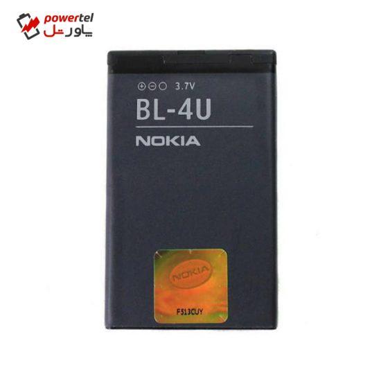 باتری موبایل مدل BL-4U ظرفیت 1000 میلی آمپر ساعت مناسب برای گوشی موبایل نوکیا 6600