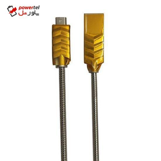 کابل تبدیل USB به microUSB اف سی کی مدل QM-02 طول 1 متر