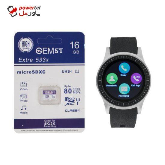 ساعت هوشمند جی تب مدل S1 به همراه کارت حافظه 16 گیگابایتی