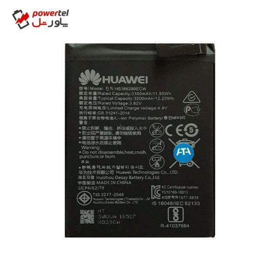 باتری موبایل مدل HB386280 ظرفیت 3200 میلی آمپر ساعت مناسب برای گوشی موبایل هوآوی P10