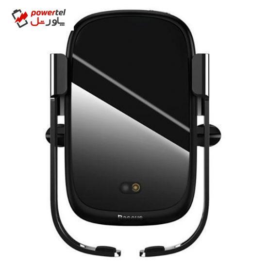 پایه نگهدارنده و شارژر بی سیم گوشی موبایل باسئوس مدل WXHW01-01