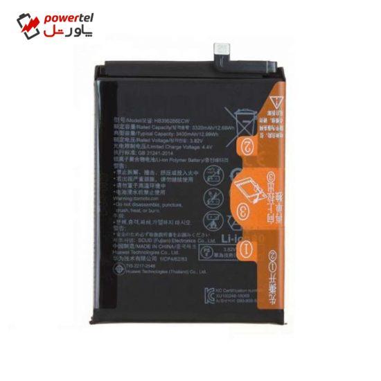 باتری موبایل مدل HB396286ECW ظرفیت 3400 میلی آمپر ساعت مناسب برای گوشی موبایل هوآوی P Smart 2019