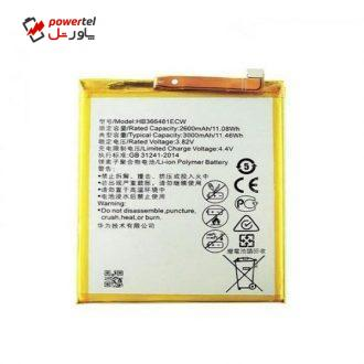 باتری موبایل مدل HB366481ECW ظرفیت 3000 میلی آمپر ساعت مناسب برای گوشی موبایل هوآوی P Smart 2018