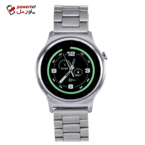 ساعت هوشمند تی تی وای جی موو مدل GW01 silver with silver steel band