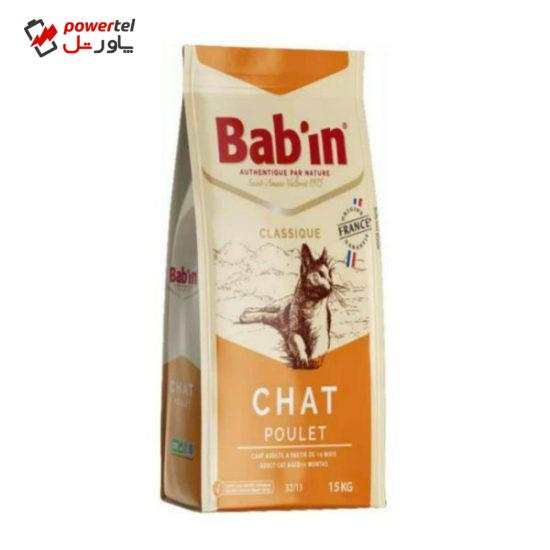 غذا خشک گربه بابین مدلمرغ وزن 15 کیلوگرم