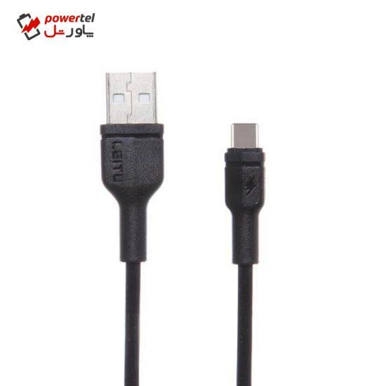 کابل تبدیل USB بهUSB-Cلیتو مدل LD-29 طول 1 متر