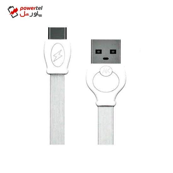 کابل تبدیل USB به microUSB دابلیو کی مدل  WDC-023 به طول 1 متر