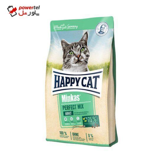 غذای خشک گربه هپی کت مدل minkas mix وزن 10 کیلوگرم