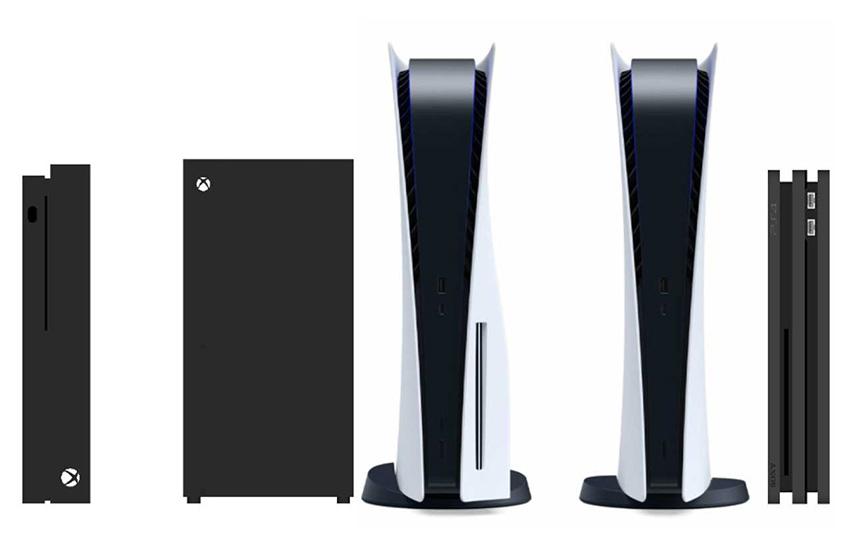 مقایسه ابعاد پلی استیشن 5 با پلی استیشن 4 و ایکس باکس ها