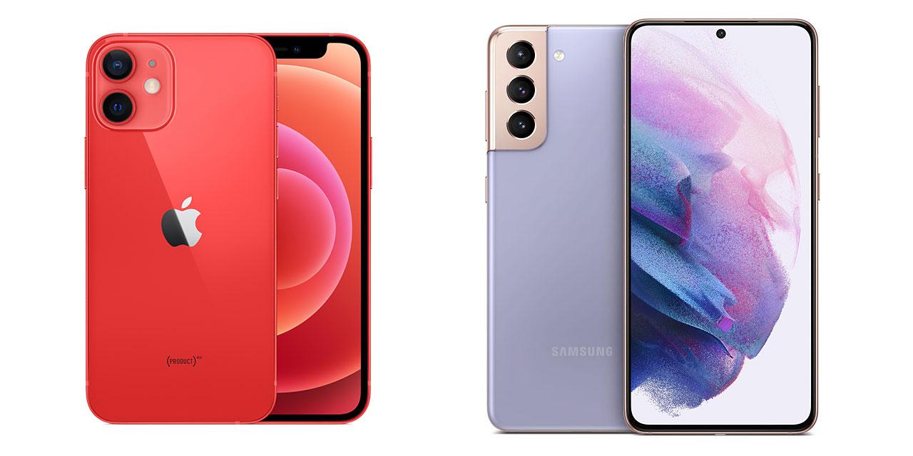 راهنمای خرید بهترین گوشی هوشمند   گلکسی S21 و آیفون 12 مینی